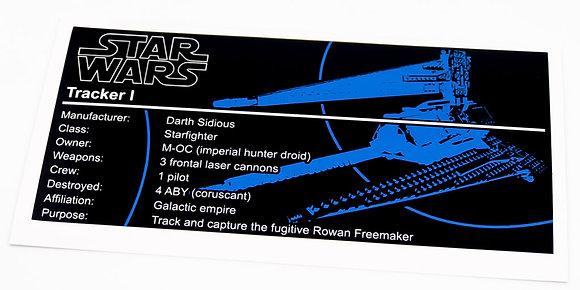 Lego Star Wars UCS Sticker for Tracker I 75185