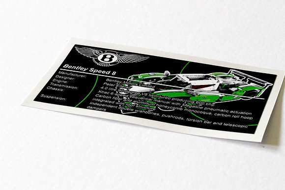 Lego Technic UCS / MOC Sticker for 24 Hours Race Car 42039
