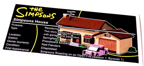 Lego Simpsons UCS Sticker for The Simpsons House 71006