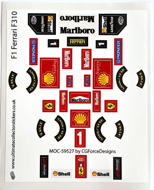 Lego Sticker Sheet for F1 Ferrari F310 by LegoCG (MOC-59572)