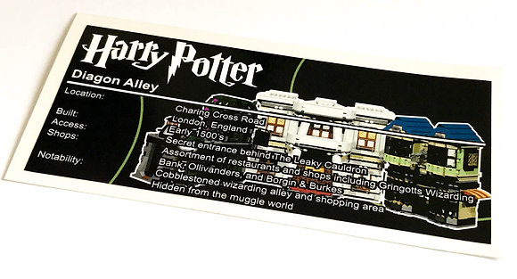 Lego Harry Potter UCS Sticker for Diagon Alley 10217