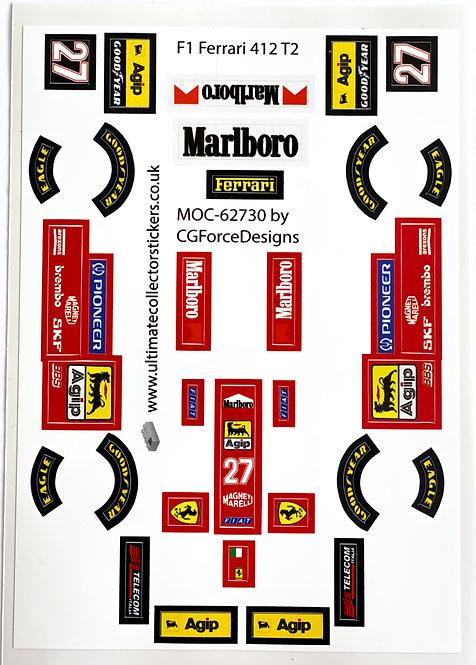 Lego Sticker Sheet for F1 Ferrari 412 T2 by LegoCG (MOC-62730)