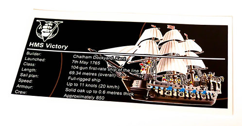 Lego Creator UCS Sticker for Imperial Flagship (HMS Victory) 10210