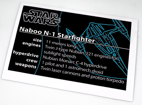 Lego Star Wars UCS Sticker for Naboo Starfighter 10026