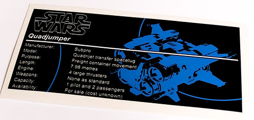 Lego Star Wars UCS / MOC Sticker for Jakku Quadjumper 75178