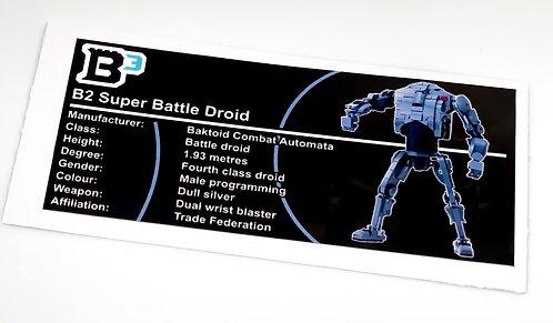 Lego Star Wars Figure Sticker for B2 Super Battle Droid (Build Better Bricks)