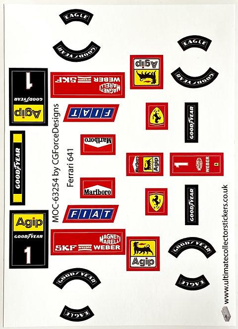 Lego Sticker Sheet for F1 Ferrari 641 by LegoCG (MOC-63254)