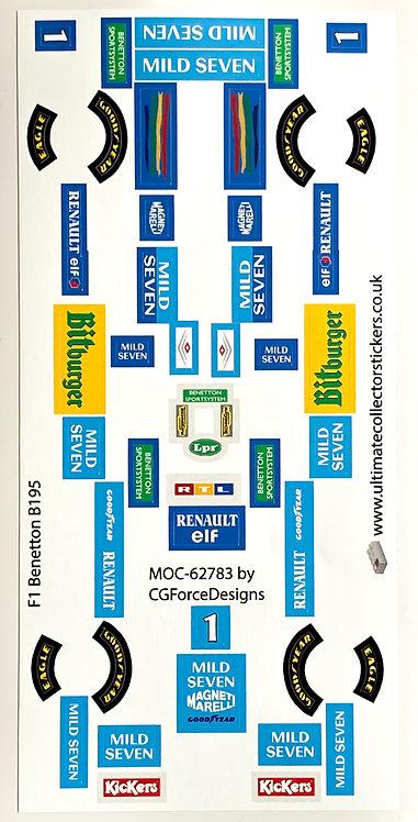 Lego Sticker Sheet for F1 Benetton B195 by LegoCG (MOC-62783)