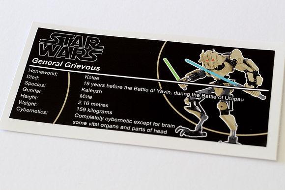 Lego Star Wars UCS Sticker for General Grievous (10186 / 75112)