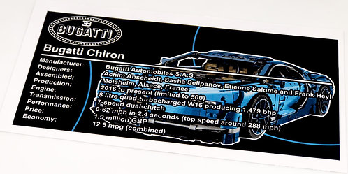 Lego Technic UCS / MOC Sticker for Bugatti Chiron 42083