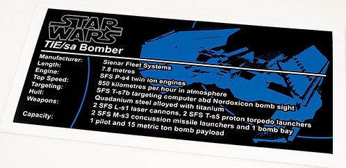 Lego Star Wars UCS / MOC Sticker for TIE Bomber 4479