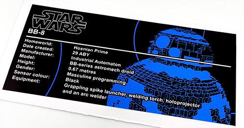 Lego Star Wars UCS / MOC Sticker for BB8 (75187 / Anio ST20)