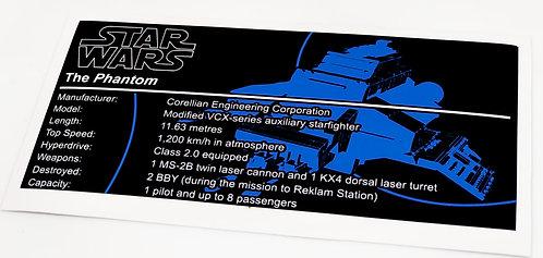Lego Star Wars UCS / MOC Sticker for The Phantom (75048 / 75170)