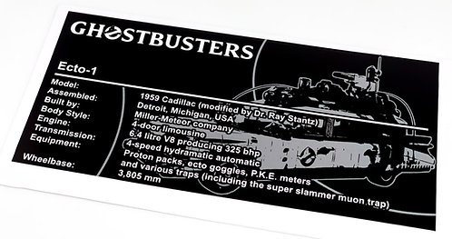 Lego Creator UCS Sticker for Ghostbusters Ecto-1 10274 (Grey)