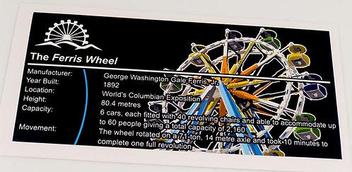 Lego Creator UCS Sticker for Ferris Wheel 10247