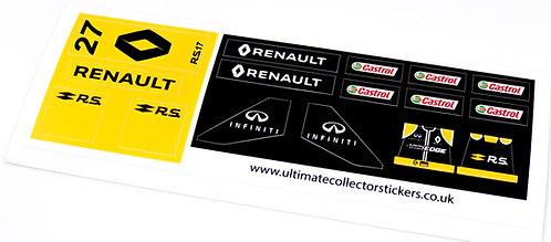 Lego Sticker Sheet for Speed Champions Renault Sport Formula Team R.S.17