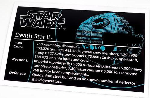 Lego Star Wars UCS Sticker for Death Star II 10143