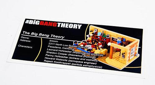 Lego Ideas UCS Sticker for Big Bang Theory 21302