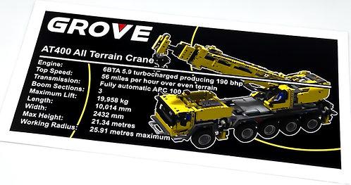 Lego Technic UCS / MOC Sticker for Mobile Crane 42009