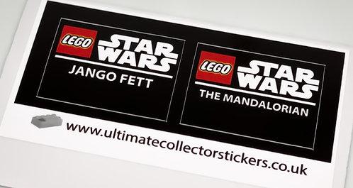 Lego Star Wars UCS / MOC Stickers for Boba Fett Helmet 75277