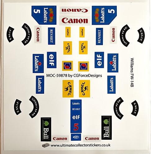 Lego Sticker Sheet for F1 Williams FW-14B by LegoCG (MOC-59878)
