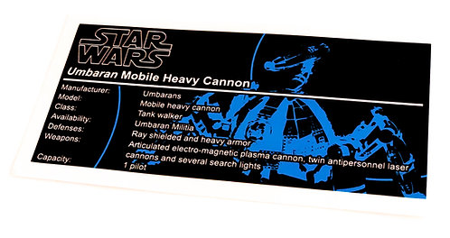 Lego Star Wars UCS / MOC Sticker for Umbaran MHC (Mobile Heavy Cannon) 75013