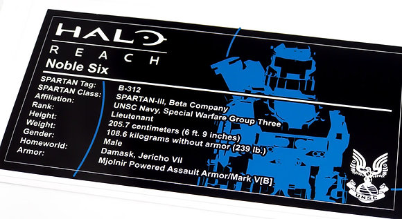 Lego UCS / MOC Sticker for Halo Noble Six