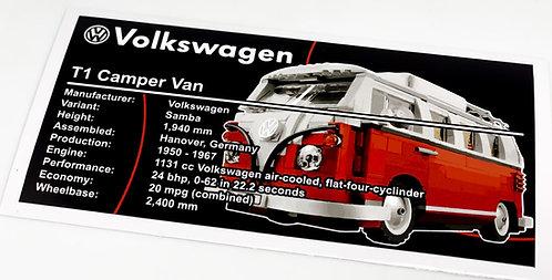 Lego Creator UCS Sticker for VW T1 Camper Van 10220