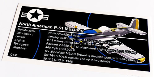 Lego Creator UCS / MOC Sticker for P-51 Mustang