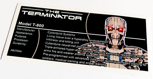 Lego Creator UCS / MOC Sticker for The Terminator T-800 (MOC-20570)