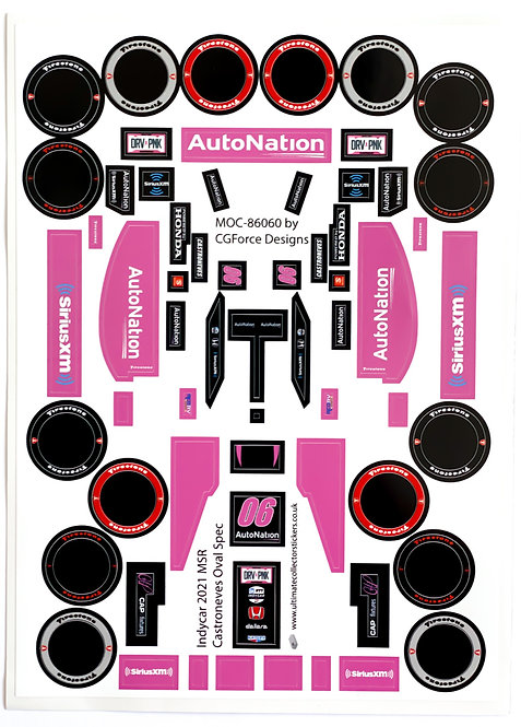 Sticker Sheet for Indycar 2021 MSR Castroneves Oval Spec by LegoCG (MOC-86060)