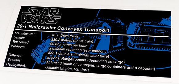 Lego Star Wars UCS / MOC Sticker for Imperial Conveyex Transport 75217