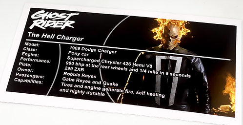 Lego UCS / MOC Sticker for Ghost Rider Hell Charger