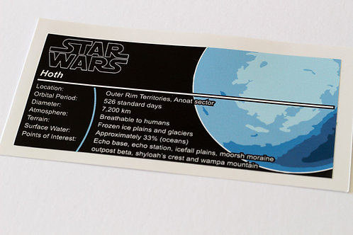 Lego Star Wars UCS / MOC Sticker for Planet Hoth