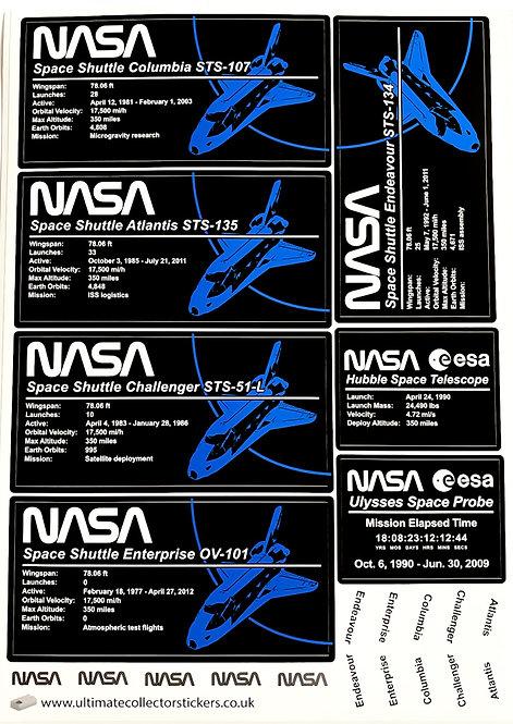 Lego MOC Sticker for NASA Space Shuttle Variants (10283)