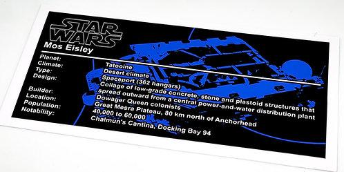 Lego Star Wars UCS / MOC Sticker for Mos Eisley Cantina 75290 (Blue)