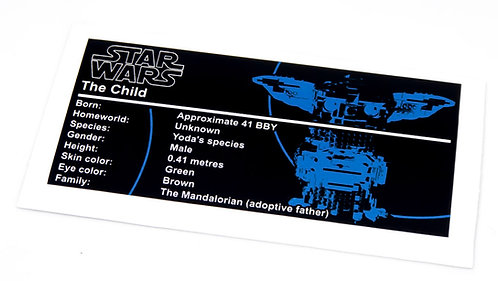 Lego Star Wars UCS / MOC Sticker for Baby Yoda (MOC-38952)
