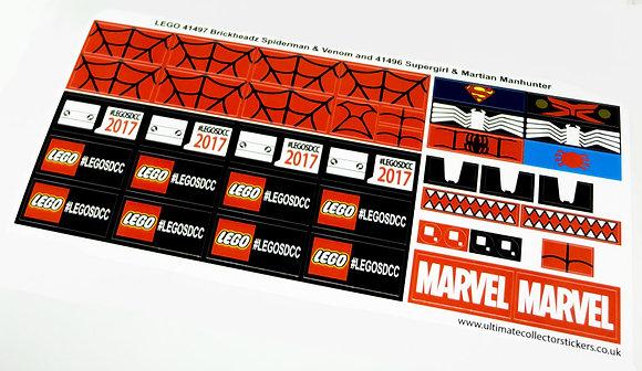 Lego Sticker set for San Diego Comic-Con '17 Exclusive BrickHeadz (41496, 41497)