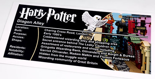 Lego Harry Potter UCS Sticker for Diagon Alley 75978