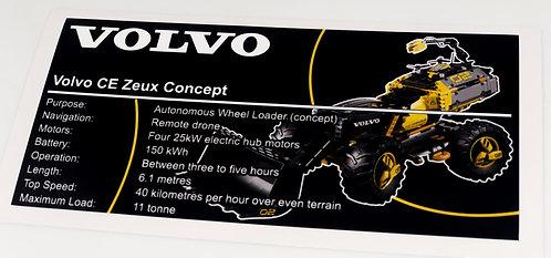 Lego Technic UCS Sticker for Volvo Concept Wheel Loader 42081
