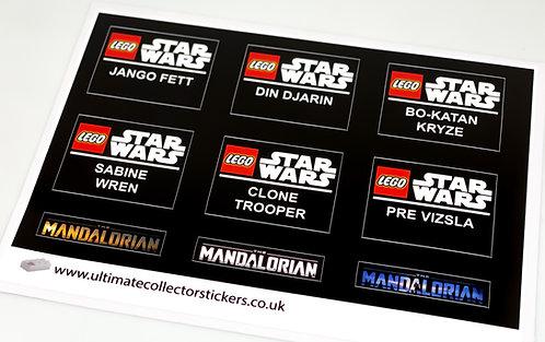 Lego Star Wars UCS / MOC Stickers for Mandalorian Helmets
