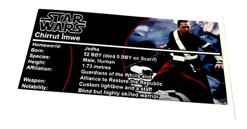 Lego Star Wars Buildable Figure Sticker for Chirrut Îmwe (75524)