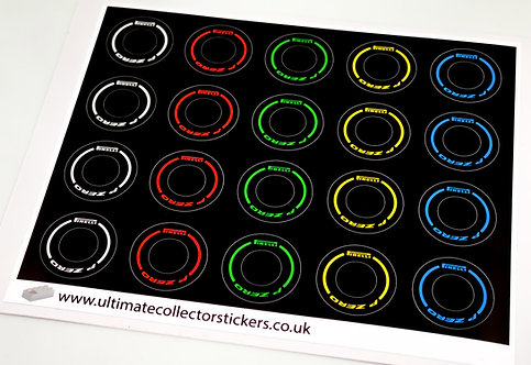 Lego Sticker Sheet for Speed Champions F1 Wheels (multiple colours)