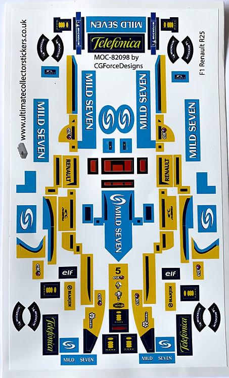 Lego Sticker Sheet for Renault R25 by LegoCG (MOC-82098)