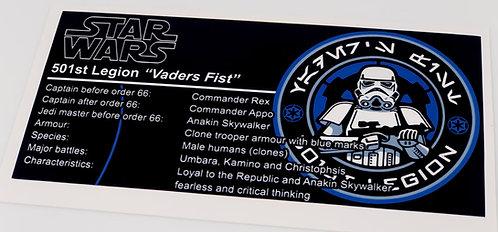 Lego Star Wars UCS / MOC Sticker for 501st Legion
