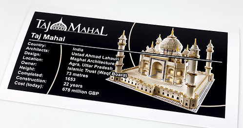 Lego Creator UCS Sticker for Taj Mahal (10189 / 10256)