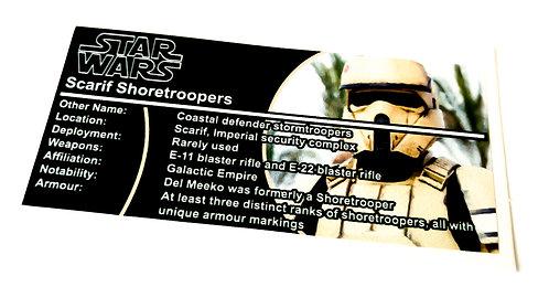 Lego Star Wars Buildable Figure Sticker for Scarif Stormtrooper (75523)