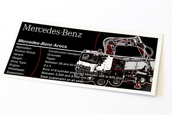 Lego Technic UCS / MOC Sticker for Arocs 42043