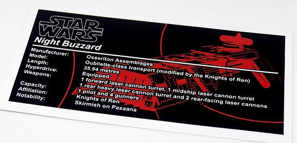 Lego Star Wars UCS / MOC Sticker for Night Buzzard