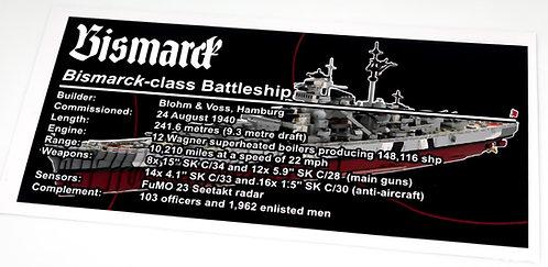 Lego UCS / MOC Sticker for Bismarck (MOC-29408)